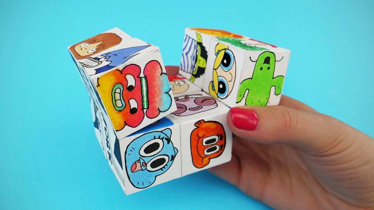How To Make Paper Magic Cube Transformer Cartoon Network Diy Infinity Cube
