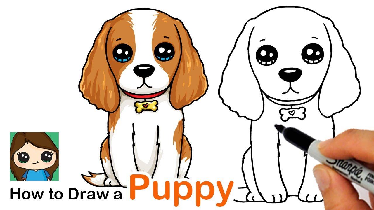 How To Draw A Cocker Spaniel Puppy Dog Easy Bizimtube Creative Diy Ideas Crafts And Smart Tips