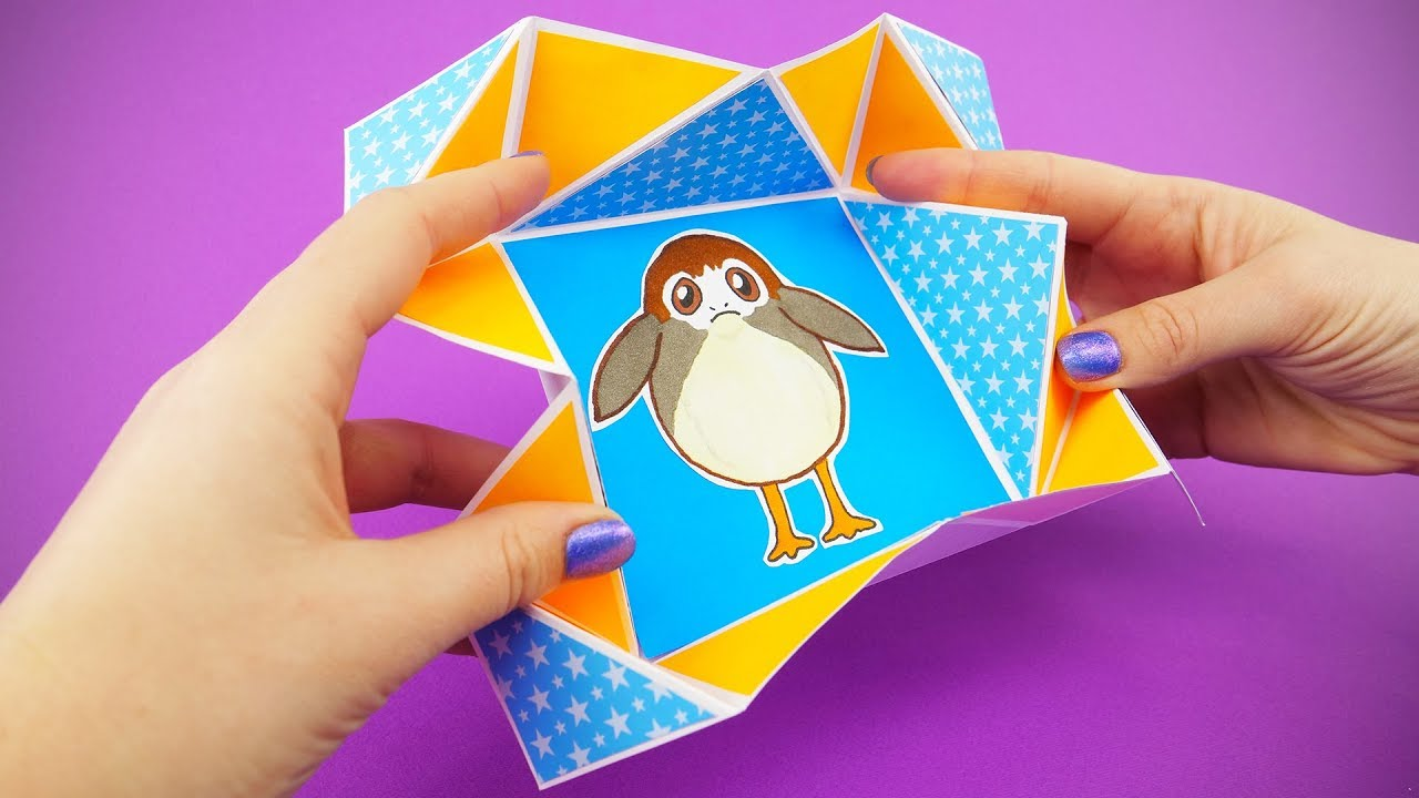 Star Wars Napkin Fold Card Diy With Porg