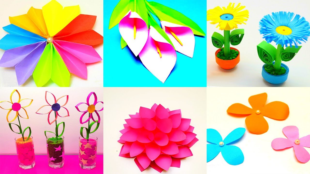 19 Diy Paper Flowers How To Make Paper Flowers Awesome Paper Crafts Flowers