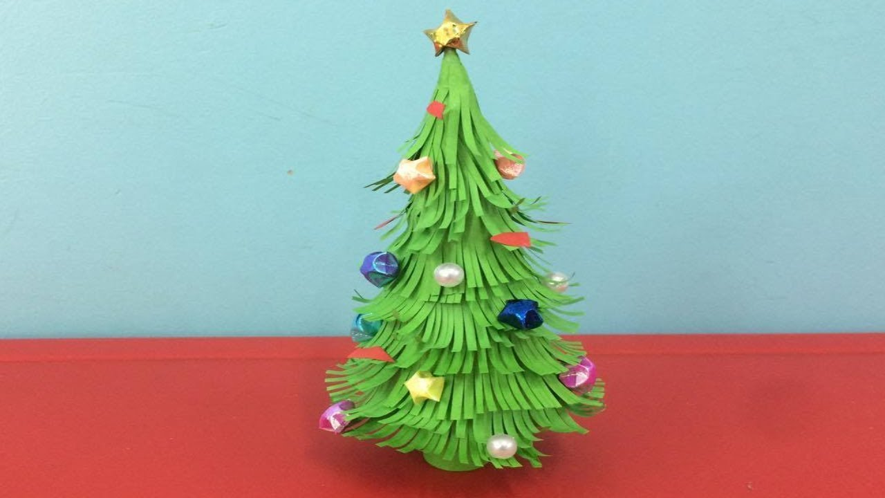 How To Make Paper Christmas Tree Making Paper Xmas Tree Step By Step Diy Paper Crafts