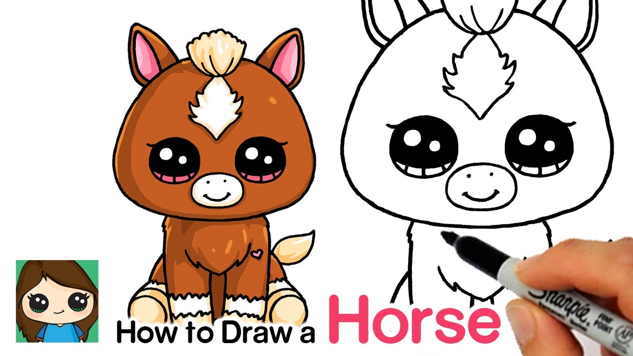 How To Draw A Baby Horse Easy Beanie Boos Bizimtube Creative Diy Ideas Crafts And Smart Tips