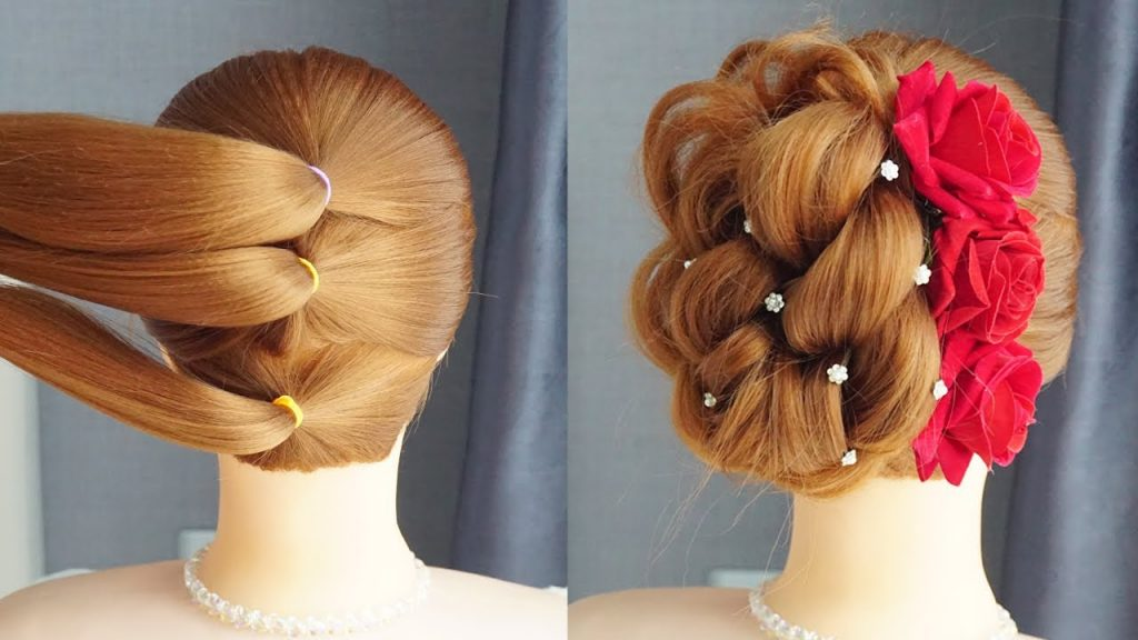New Knot Hairstyle Cute Trendy Hairstyle For Girl Different Wedding Party Hairstyles Ideas