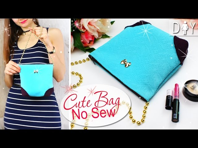 diy Bag tutorial no sew no pattern. So pretty summer bag by own hands