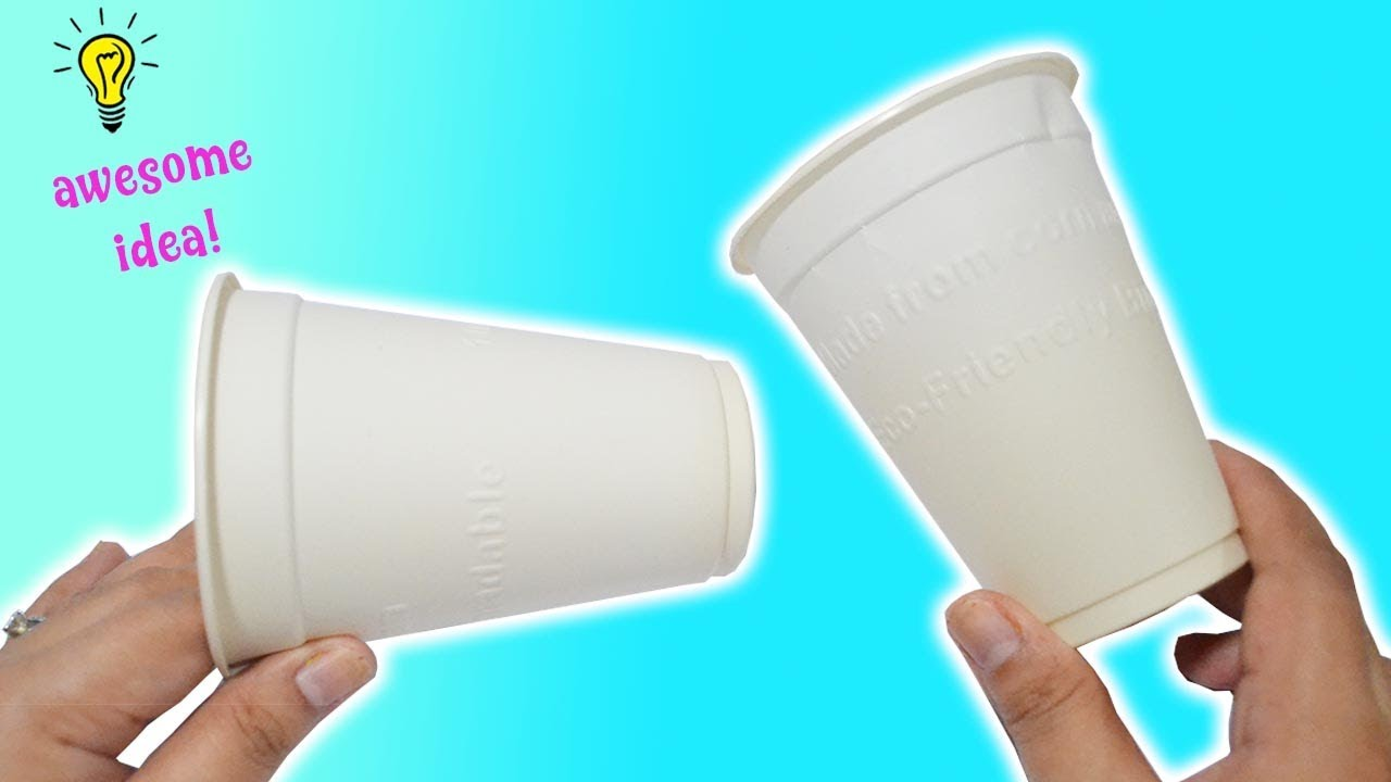 Reuse Idea With Paper Cups| How To Recycle Paper Cups