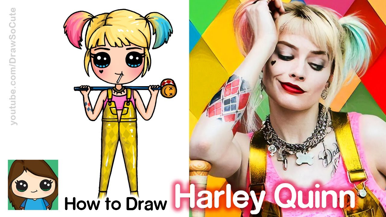 How To Draw Harley Quinn Birds Of Prey