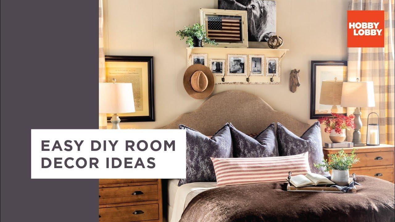 Easy Diy Room Decor Ideas Industrial Traditional Hobby Lobby