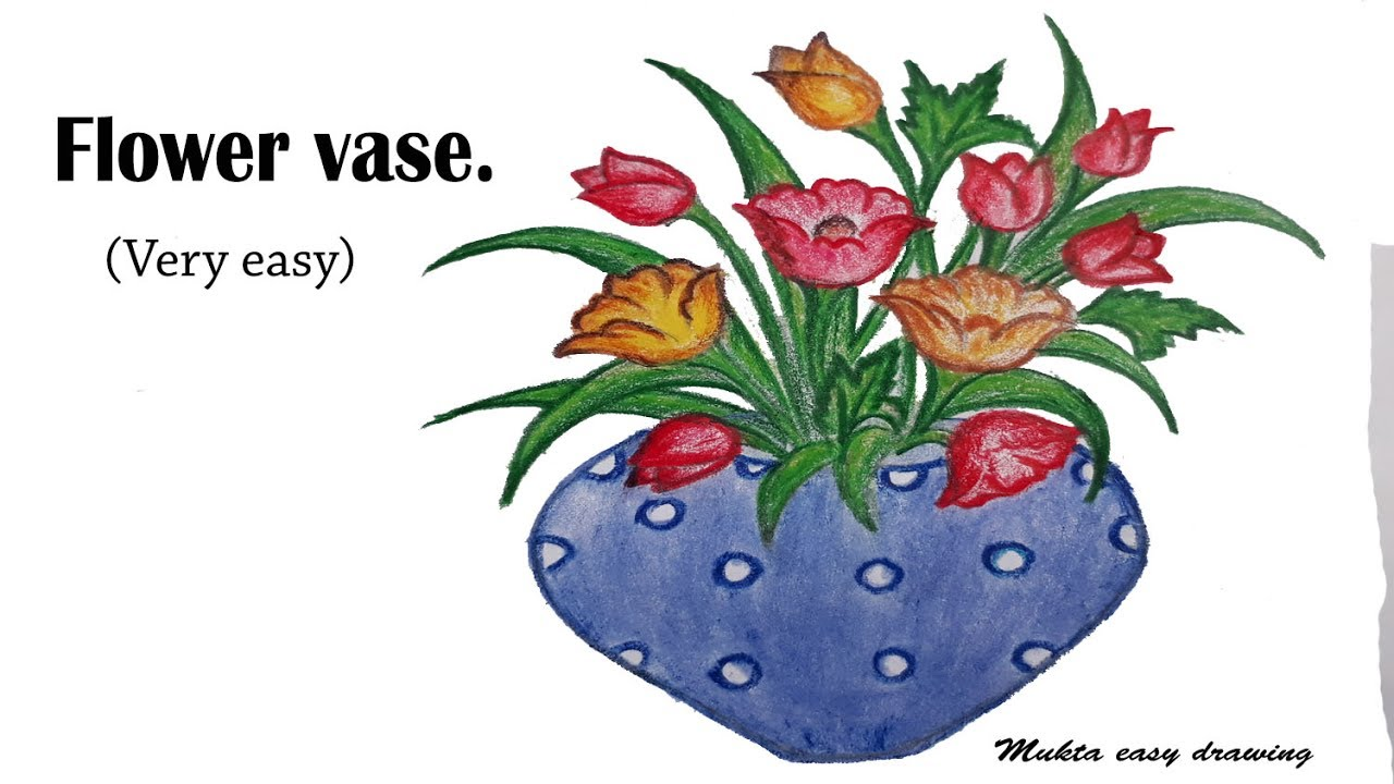 How To Draw Flower Vase Very Easy Bizimtube Creative Diy Ideas Crafts And Smart Tips