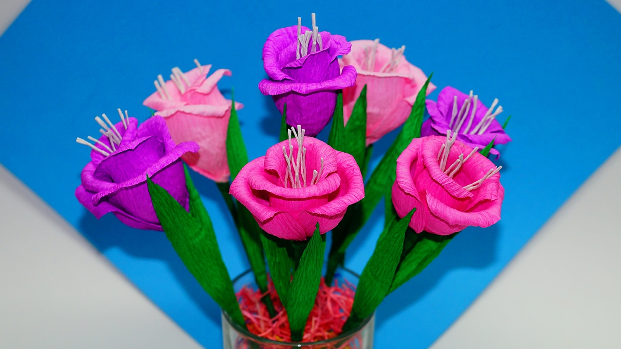 Easy Flowers Making How To Make Flower Bouquet Gift Ideas Paper Flowers Making Easy Julia Diy