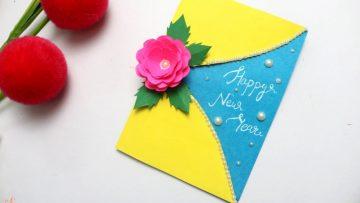 Beautiful Handmade Happy New Year 2020 Card Idea Bizimtube Creative Diy Ideas Crafts And Smart Tips