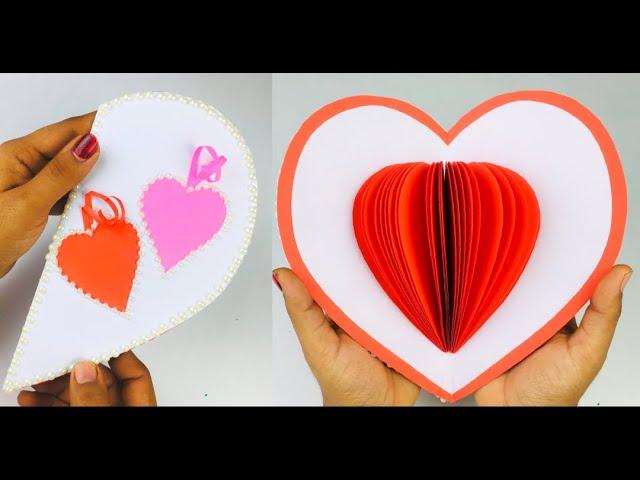heart shape paper craft  3d pop up card  heart craft