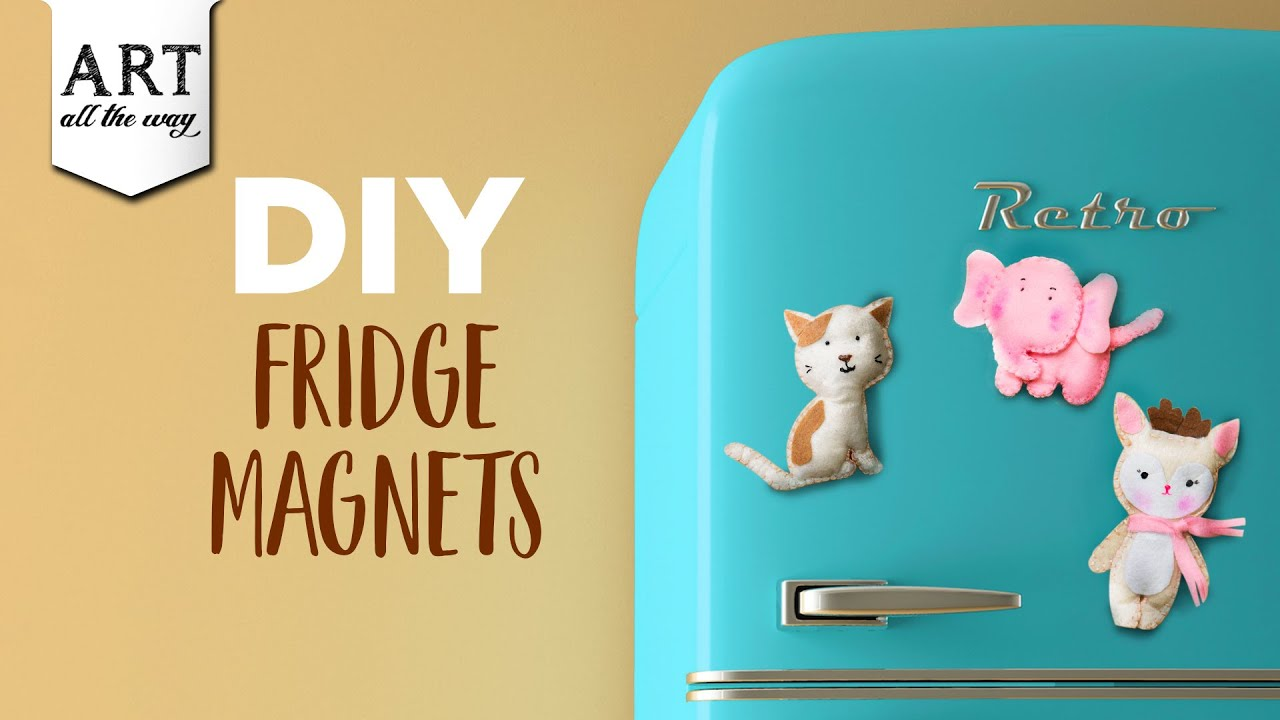 Diy Fridge Magnets Felt Craft Ideas Diy Home Decors Bizimtube Creative Diy Ideas Crafts And Smart Tips