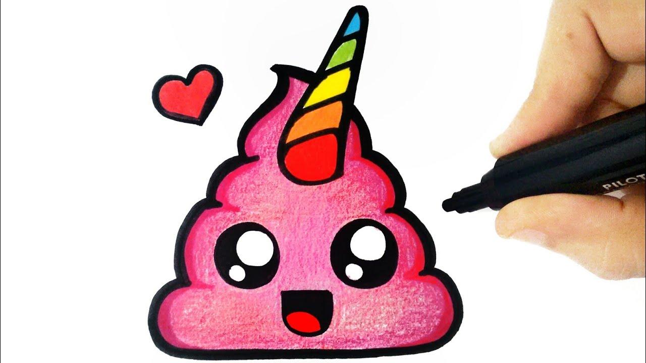 How To Draw A Emoji Poo Como Desenhar Um Coco Como Dibujar Una Caca Bizimtube Creative Diy Ideas Crafts And Smart Tips