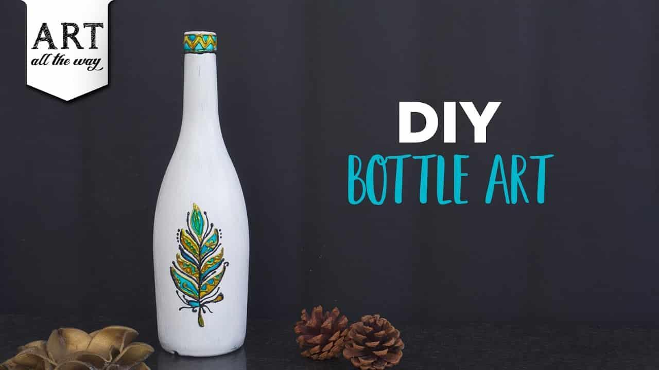 Diy Bottle Art Bottle Painting Ideas Diy Home Decor