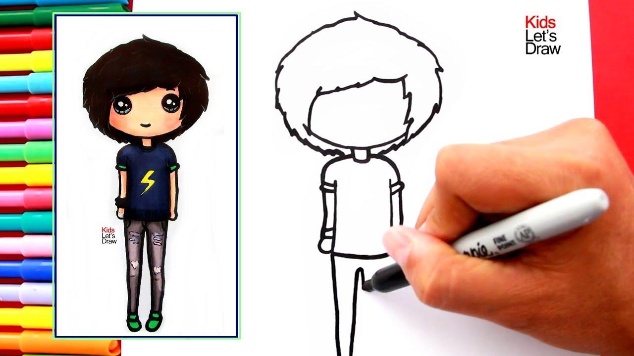 Cómo dibujar y pintar un CHICO TUMBLR fácil | How to Draw ...