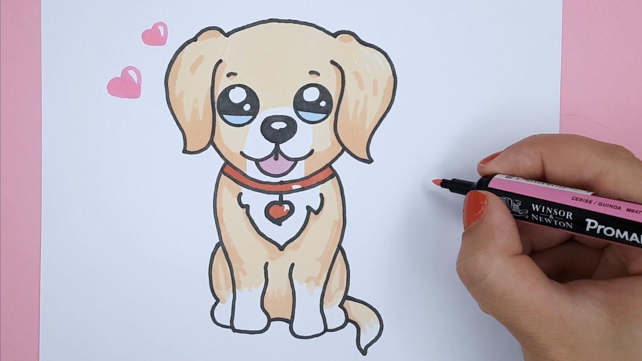 How To Draw A Labrador Golden Retriever Puppy Easy Barbie S Dog Bizimtube Creative Diy Ideas Crafts And Smart Tips