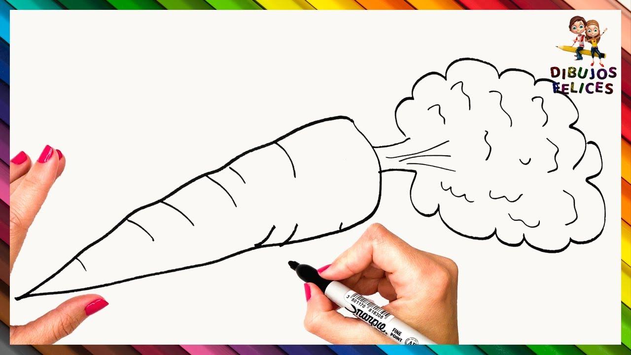 Como Dibujar Una Zanahoria Paso A Paso Dibujo De Zanahoria Bizimtube Creative Diy Ideas Crafts And Smart Tips Para interesar al niño en el proceso de dibujo, ofrecemos algunos datos interesantes: como dibujar una zanahoria paso a paso