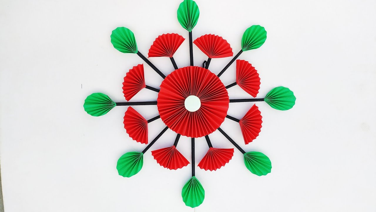 Paper Flower Wall Hanging Very Easy Diy Paper Craf Easy Wall Decoration Ideas Room Decor Bizimtube Creative Diy Ideas Crafts And Smart Tips