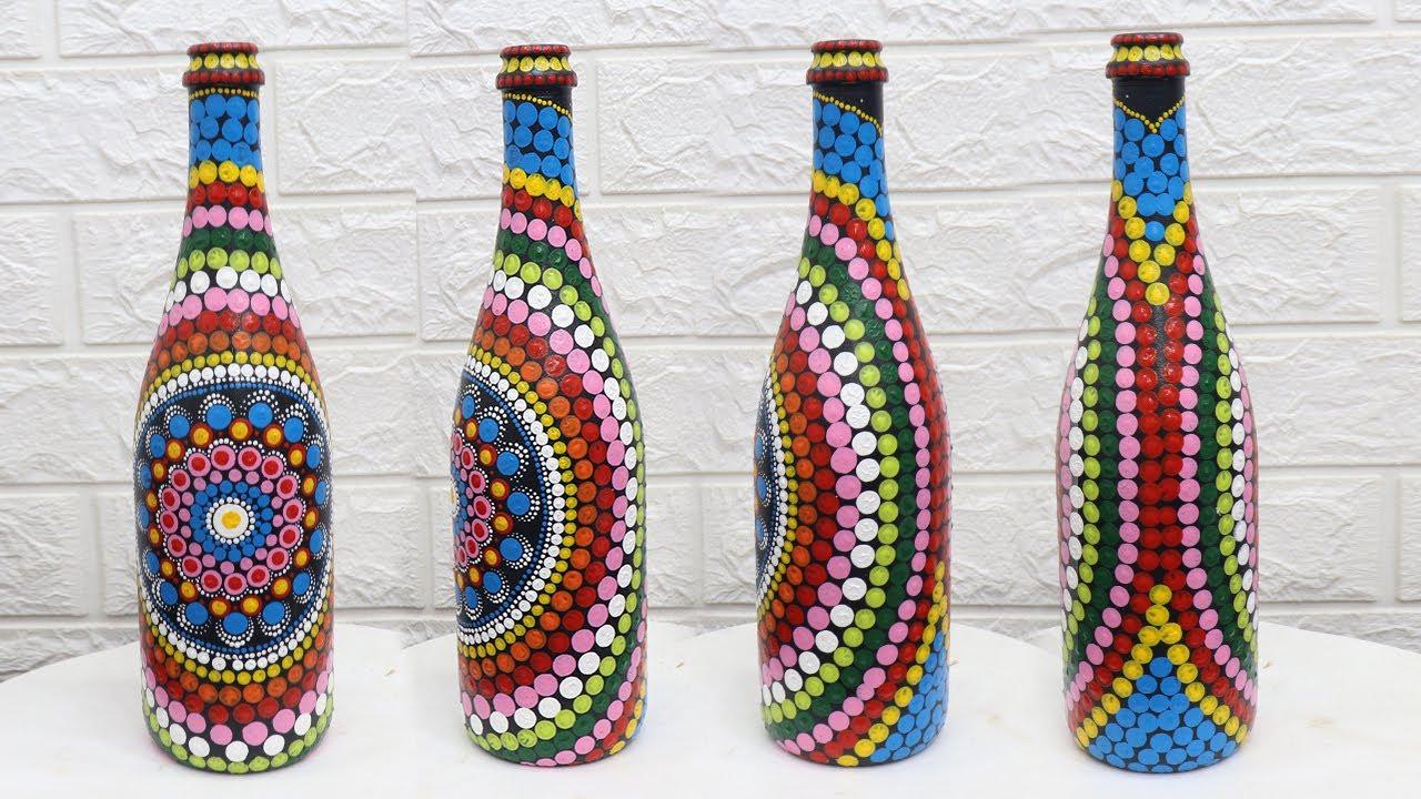 Bottle Art Design Ideas With Acrylic Paint Bottle Decorating Ideas