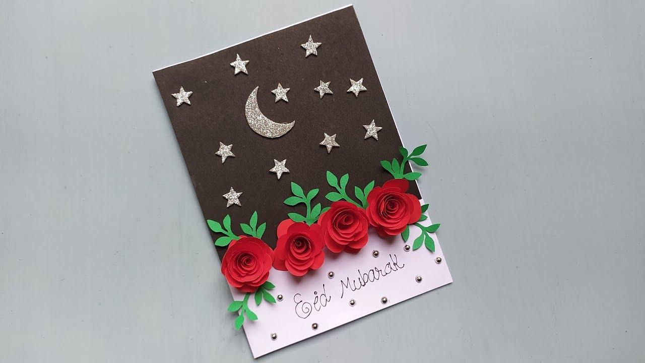 beautiful greeting card handmade  eid greeting card