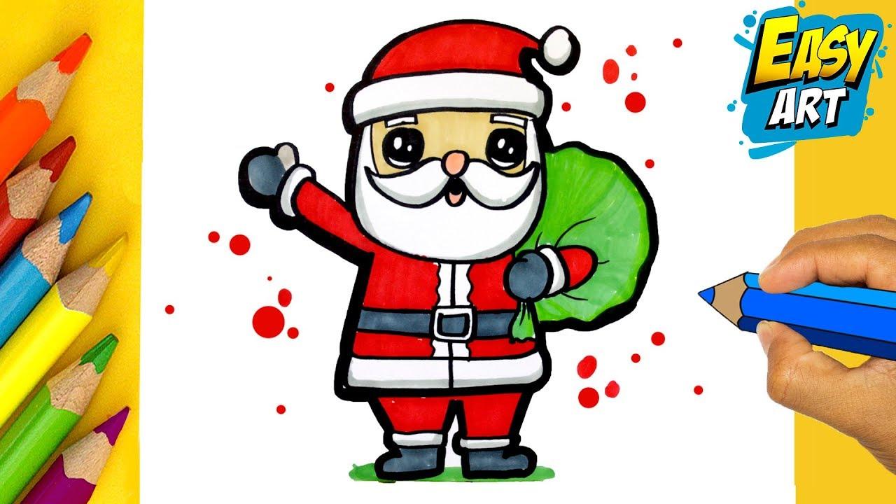 Cómo Dibujar Un Papa Noel Kawaii Como Desenhar Santa Claus Kawaii Easy Art