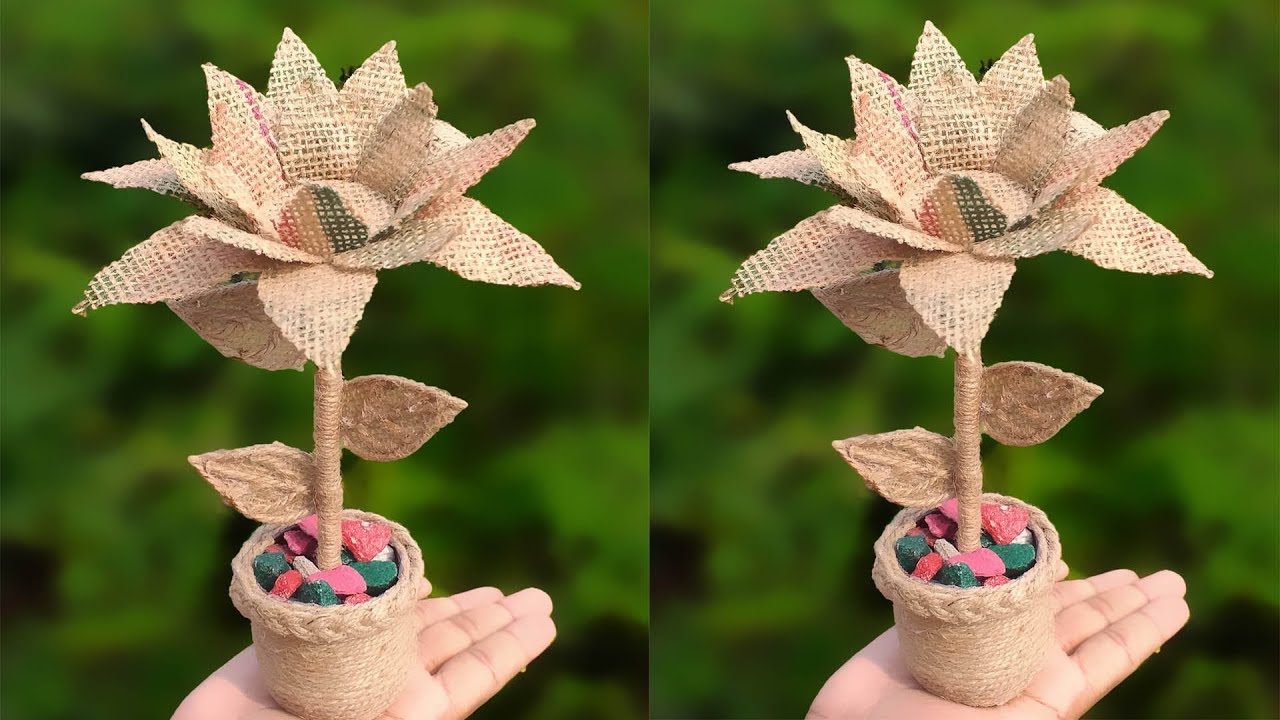 Beautiful Flower Vase Decoration Ideas With Jute Rope Home Decor Dian Crafts