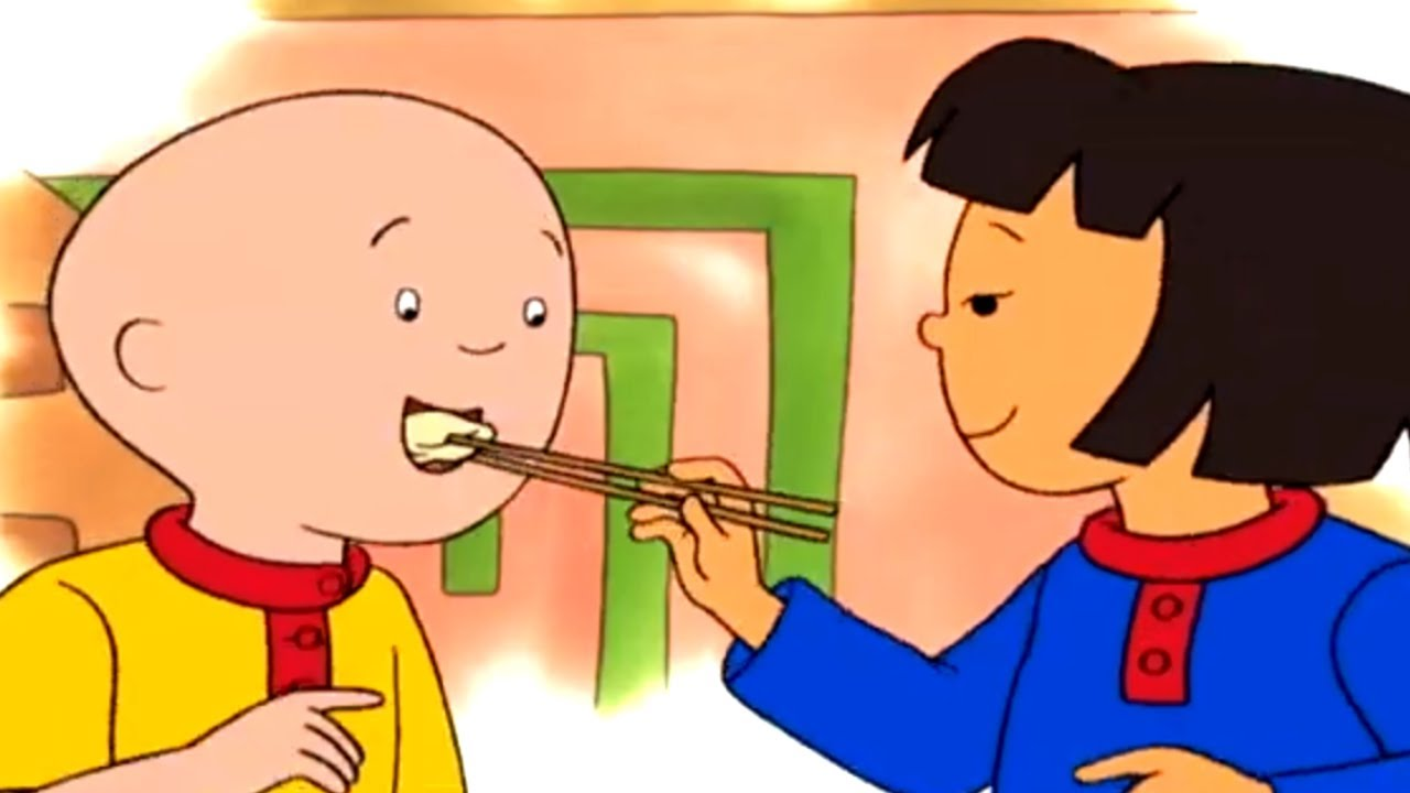 Caillou English Full Episodes Caillou Eats Chinese Food Cartoon Movie Watch Online For Kids