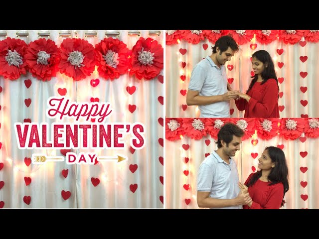 Room Decor Ideas For Anniversary Valentine Day Paper Flowers Backdrop For Wedding