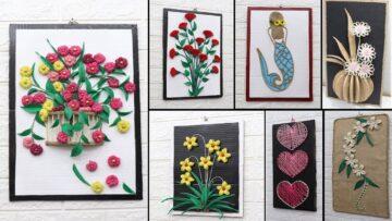 Art And Craft Jute Work Bizimtube Creative Diy Ideas Crafts And Smart Tips