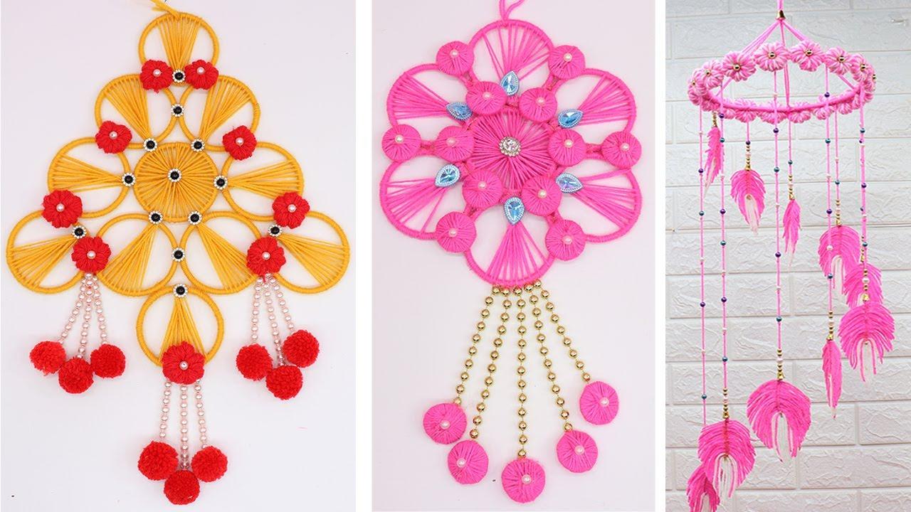 5 Woolen Craft Ideas Home Decorating Idea Handmade Wall Hanging