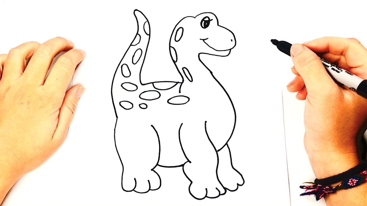Como Dibujar Un Dinosaurio Para Ninos Dibujo De Dinosaurio Paso A Paso Bizimtube Creative Diy Ideas Crafts And Smart Tips Si tu hijo es fan de los dinosaurios dale una sorpresa con este dibujo de dinosaurio que puedes imprimir y colorear. dibujo de dinosaurio paso a paso