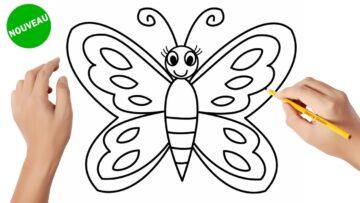 Comment Dessiner Un Papillon Facile Bizimtube Creative Diy Ideas Crafts And Smart Tips