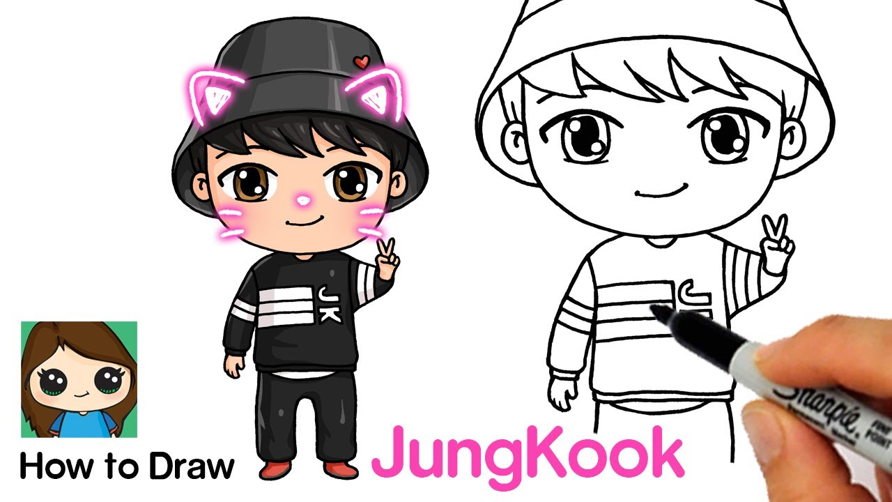 How To Draw Bts Jungkook Tiny Tan