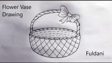 Flower Basket Drawing Bizimtube Creative Diy Ideas Crafts And Smart Tips
