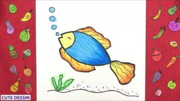 Comment Dessiner Un Poisson Mignon Bizimtube Creative Diy Ideas Crafts And Smart Tips