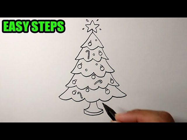 How To Draw A Christmas Tree Easy Simple Drawing Bizimtube Creative Diy Ideas Crafts And Smart Tips 600x600 christmas tree easy drawing tutorial step on draw. christmas tree easy simple drawing