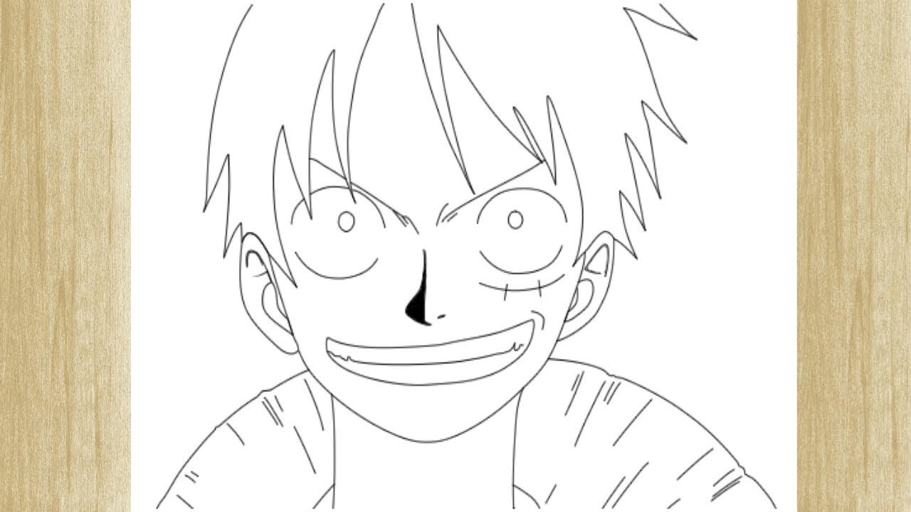 HOW TO DRAW MONKEY D. LUFFY FROM ONE PIECE /// COMO ...