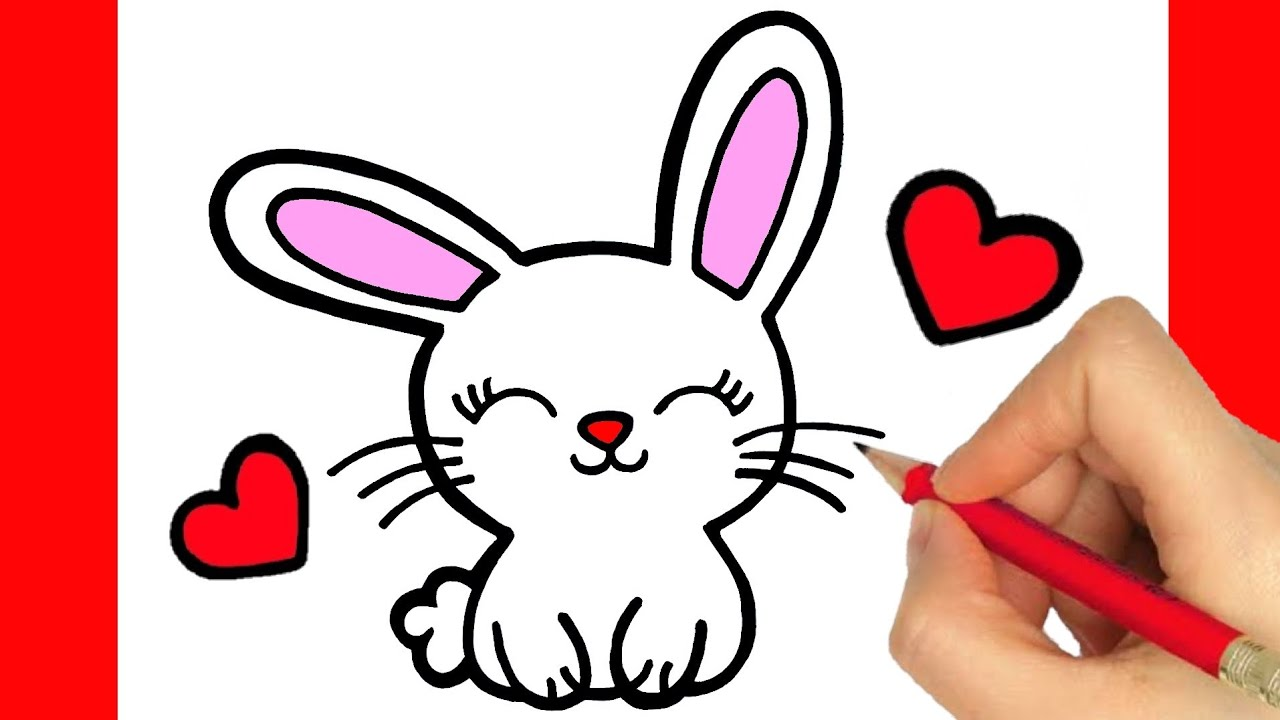 HOW TO DRAW A CUTE BUNNY EASY STEP BY STEP - KAWAII DRAWINGS